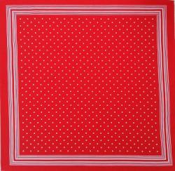 Boerenzakdoek - rood & witte stippen - kleine stip