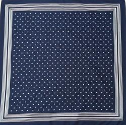 Boerenzakdoek - blauw & witte stippen - kleine stip