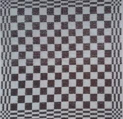 keukendoek/handdoek - grijs/taup geblokt - 50 x 50 cm