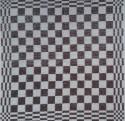 keukendoek/handdoek - grijs/taup geblokt - 50 x 50 cm (grijs-wit)