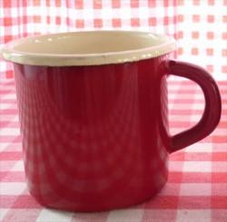 drinkmok - rood & creme - 8 cm