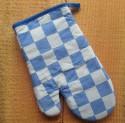 ovenwant - blauw geblokt - 17 x 28 cm