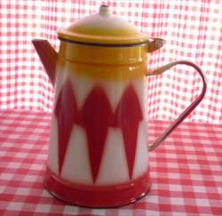 koffiekan - rood & geel - 2,5 liter