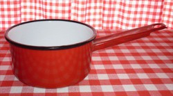 steelpan - rood - 1 liter