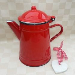 koffiekan - rood - 1 liter