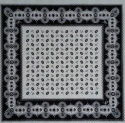 Boeren zakdoek - boontjes wit & zwart - 58 x 58 cm
