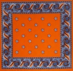 Oranje zakdoek - figuurtjes - 58 x 58 cm