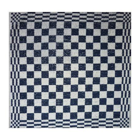 keukendoek/handdoek - donkerblauw geblokt - 50 x 50 cm