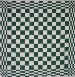 keukendoek/handdoek - groen geblokt - 50 x 50 cm
