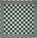 keukendoek/handdoek - groen geblokt - 50 x 50 cm (groen-wit)