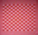 theedoek/pompdoek - rood geblokt - 65 x 65 cm (rood-wit)