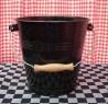 emmer - zwart & spikkeltjes - 7 liter
