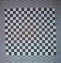 theedoek/pompdoek - zwart geblokt - 65 x 65 cm (zwart-wit)