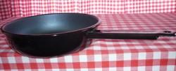 koekenpan - zwart - 19 cm - emaille steel
