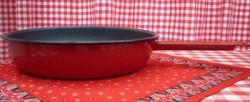 koekenpan - rood & spikkeltjes - 23 cm - emaille steel