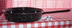 koekenpan - zwart & spikkeltjes - 19 cm - emaille steel