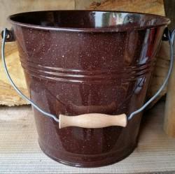 beschadigde - emmer - bruin & spikkeltjes - 10 liter
