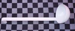 opscheplepel/soeplepel - wit - normaal - model 2