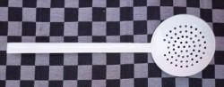 schuimlepel/schuimspaan - wit - 12 cm