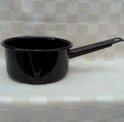 steelpan - zwart - 1 liter - met tuitje