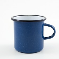 drinkmok - blauw & witte spikkeltjes - 7 cm