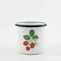 drinkmok - wit & aarbeien - 8 cm