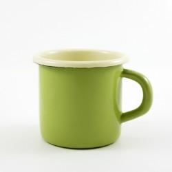 drinkmok - ROTTERDAM - groen & crème - 8 cm