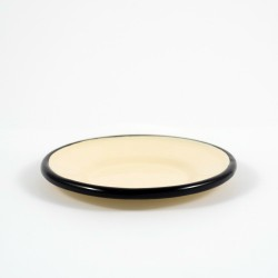 petit four schaaltjes - creme met zwarte rand - 8,5 cm