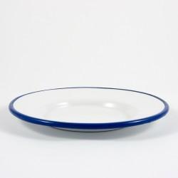 petit four schaaltjes - wit met blauwe rand - 9 cm