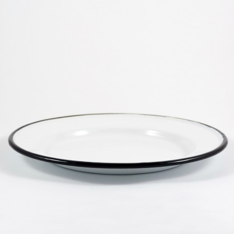 bordje - wit met zwarte rand - 16 cm