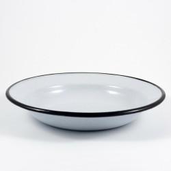 diep bord - wit & grijze spikkeltjes - 22 cm