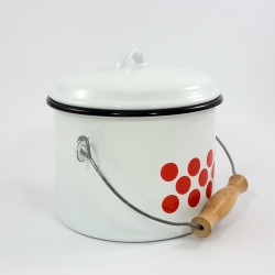 emmer - wit & rode stippen - 3 liter