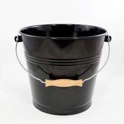 emmer - zwart & spikkeltjes - 12 liter