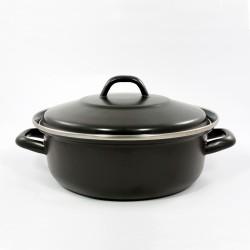 braadpan - mat zwart -18 cm