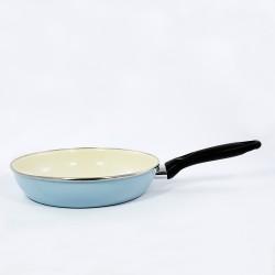 koekenpan - lichtblauw - 20 cm - kunststof steel