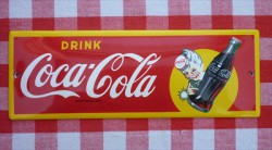 Reclamebord - Coca Cola - 20 x 7 cm