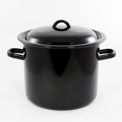 kookpan - zwart - 8 liter