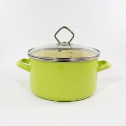 kookpan - AMSTERDAM - lichtblauw & creme - 3 liter - lichtblauw & creme - glazen deksel