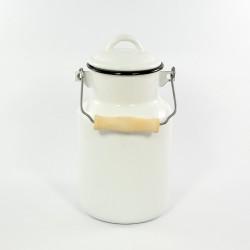 melkbus - wit met zwarte rand - 2 liter