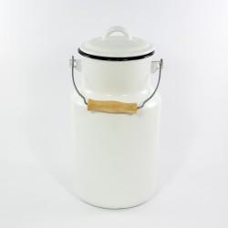 melkbus - wit met zwarte rand - 4 liter