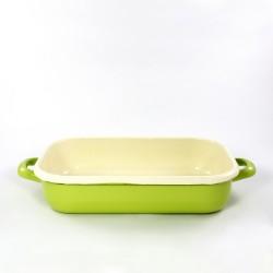 ovenschaal - ROTTERDAM - groen & creme - 26cmx16cm - (nr. 1)