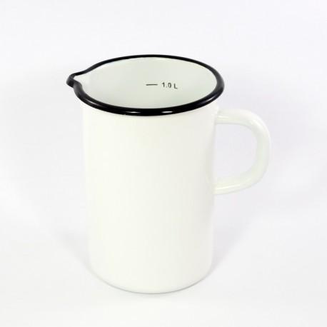 maatkan - wit - 1000 ml / 1 liter - hoog model