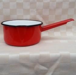 steelpan - rood - 1 liter - met tuitje