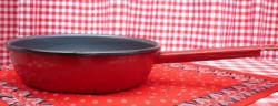 koekenpan - rood & spikkeltjes - 18 cm - emaille steel