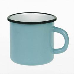 beker - lichtblauw & creme - 8 cm