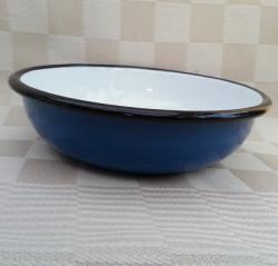 beschadigd - schaaltje/kom - blauw - laag model
