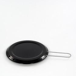 sudderplaatje - zwart - 20 cm