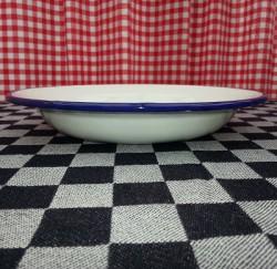 diep bord - wit met blauwe rand - 23 cm