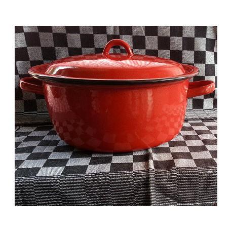 kookpan - zwart & witte spikkeltjes - 5 liter