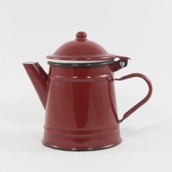 beschadigde - koffiekan - RILLY - donkerrood - 750 ml